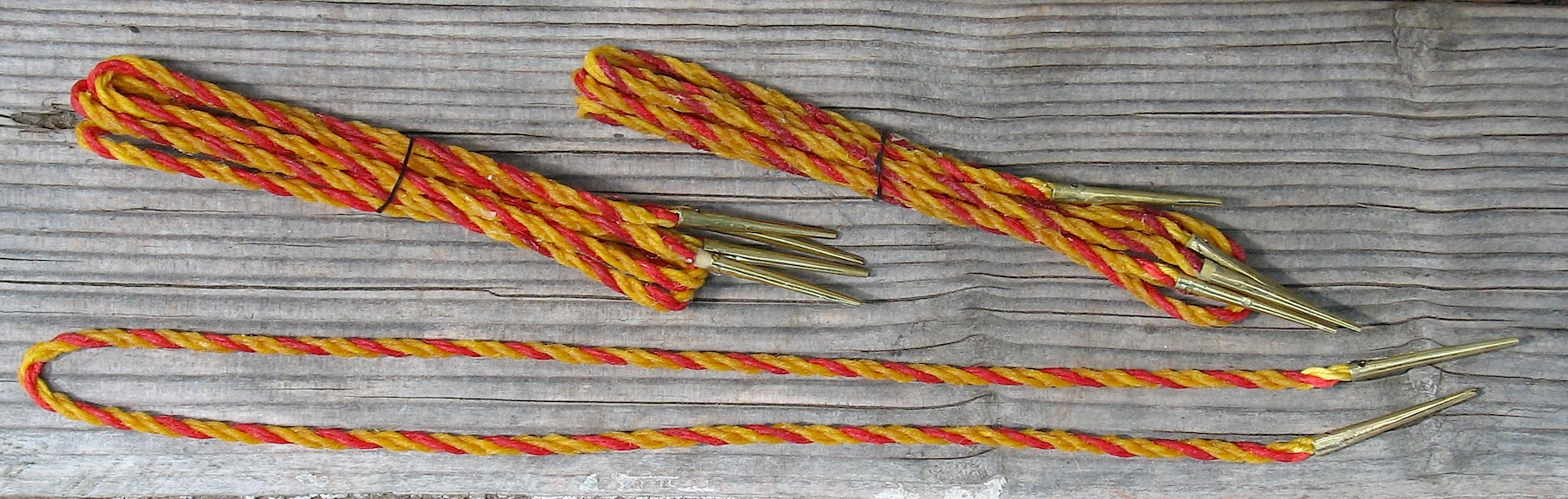 Points, hemp arming, red/yellow